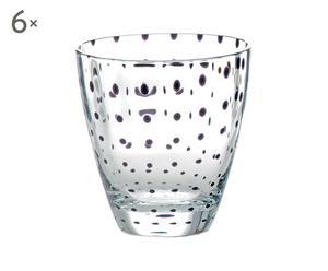 Set de 6 vasos de agua de cristal Flurry Flurry - negro