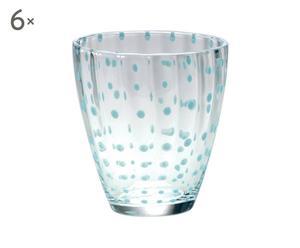Set de 6 vasos de vino de cristal Flurry Flurry - celeste