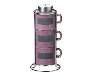 SET 3 porta especias de porcelana Bic – lila