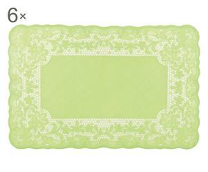 Set de 6 manteles individuales de silicona - verde