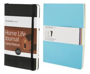 Set de cuaderno Passion Journal Home Life y una libreta de direcciones a rayas