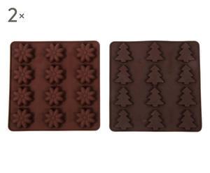 Set de 4 moldes para bombones - marrón