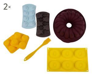 Set de 12 moldes de silicona con pincel - multicolor