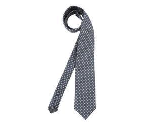 Corbata de seda polka dots –antracita