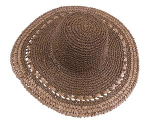 Sombrero de playa de papel – marrón