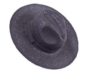 Sombrero de playa de papel - negro