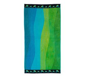 Toalla de playa de algodón Summer Onde – azul y verde