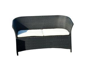 Sofá de 2 plazas Tamarin – negro