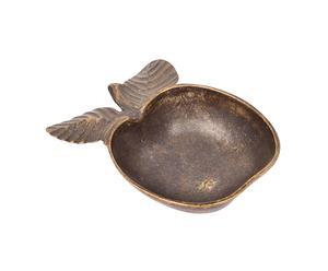 Cuenco-cenicero de bronce Manzana