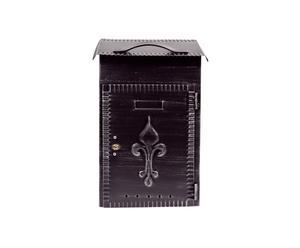 Caja para periódicos de hierro forjado – negro