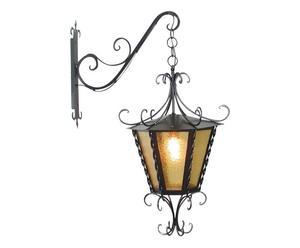 Lámpara de pared en hierro y vidrio Imperiale