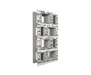 Librería de cartón reciclado Pisk – blanco