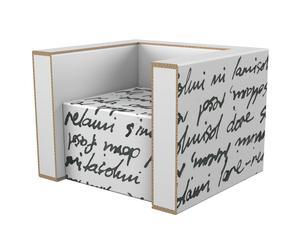 Butaca de cartón reciclado Pisk – blanco