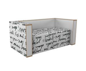Sofá de cartón reciclado Pisk – blanco