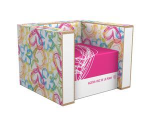 Butaca de cartón reciclado – graphics