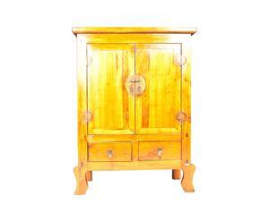 Mueble chino en madera de nogal y olmo