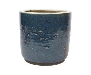 Macetero chino pintado a mano de porcelana - azul