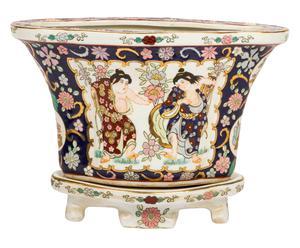 Macetero chino pintado a mano - 35x25x22
