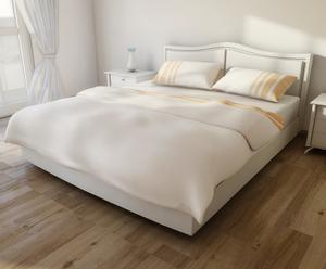 Set de funda nórdica, sábana bajera y dos fundas de almohada de cama de matrimonio - beige