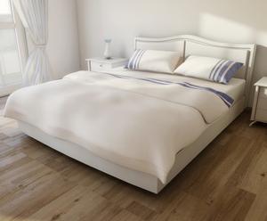 Set de funda nórdica, sábana bajera y dos fundas de almohada de cama de matrimonio - azul