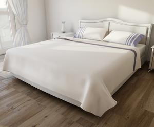 Set de sábana encimera, sábana bajera y 2 fundas de almohada – azul