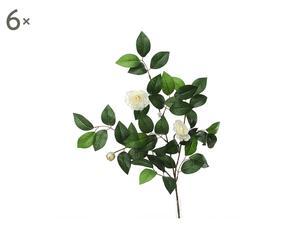 Juego de 6 flores artificiales Camelias