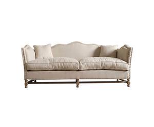 Sofá tapizado en lino