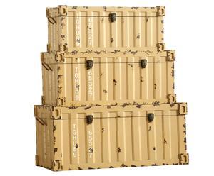 Juego de 3 baúles de madera Gold Miner