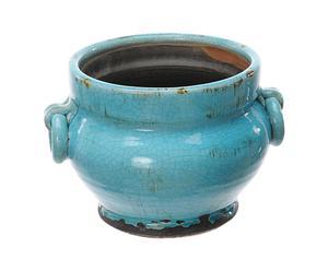 Vasija de cerámica Toscana – azul