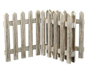 Valla de jardín en madera – natural