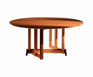 Mesa redonda plegable, por Oscar Tusquets