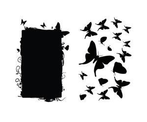 Set de pizarra y vinilo adhesivos Butterflies