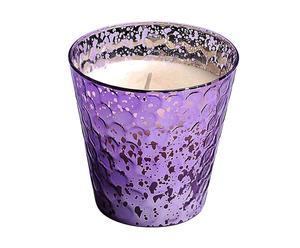Vela perfumada con aroma de vainilla y pachuli White Seasons - lila