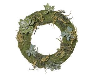 Corona de plantas crasas artificial - Ø45