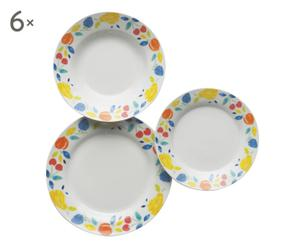 Vajilla de cerámica Fruta – 18 piezas