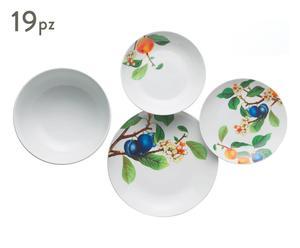 Vajilla de cerámica Primavera – 19 piezas