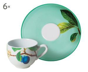 Juego de café de cerámica Primavera – 12 piezas