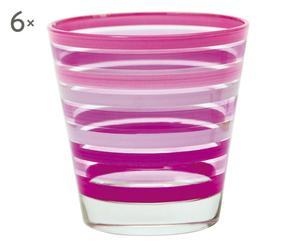 Set de 6 vasos de vidrio Chic&Choc – lila