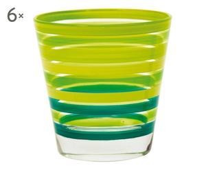 Set de 6 vasos de vidrio Chic&Choc – verde