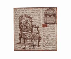 Cuadro de madera silla – marrón