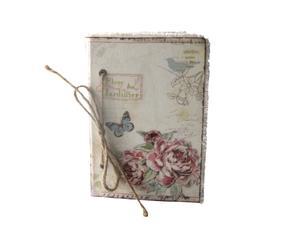 Cuaderno con cubierta de tela