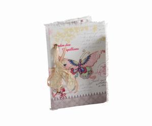 Cuaderno con cubierta de tela JARDIN DES PAPILLONS