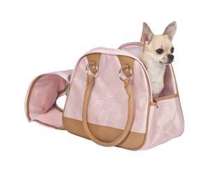 Transportín para perros Jaquard - rosa