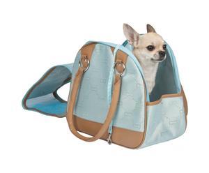 Transportín para perros Jaquard - azul