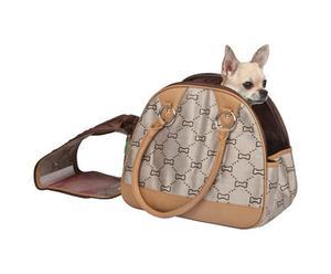 Transportín para perros Jaquard - beige