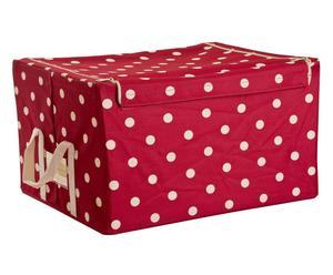 Caja de almacenaje Topos, rojo y blanco - grande