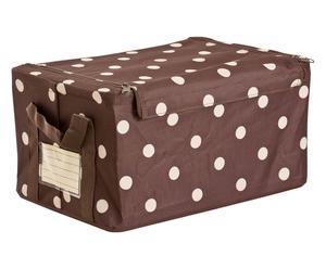 Caja de almacenaje Topos, marrón y blanco - grande