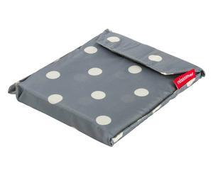Mantel para picnic de poliéster – blanco y gris