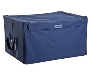 Caja de almacenaje de poliéster, azul marino - grande