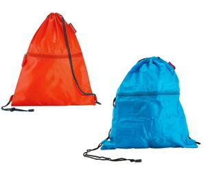 Set de 2 sacos de poliéster – naranja y azul